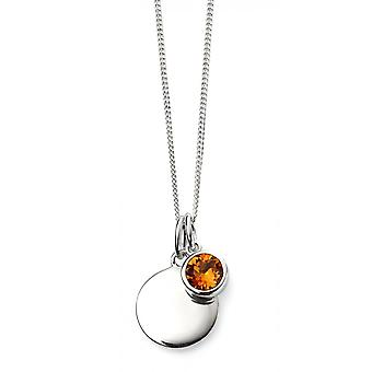 Joshua James November Birthstone Swarovski Topaz Pendant