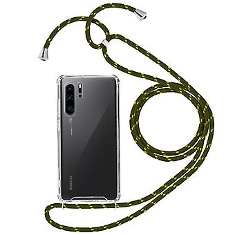 Braided Nylon Lanyard Phone Case for Huawei P30 Pro - Forcell, Green