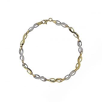 Eternity 9ct Gold Ladies Cubic Zirconia Infinity Bracelet