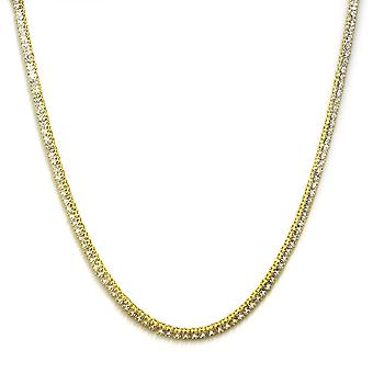 Pharaoh Necklace 18k Gold plated CZ Square Cut 4mm