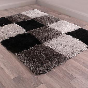Boston Checked Rugs In Black