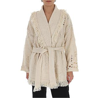 Alanui Lwhb019s20kni010101 Women's White Cotton Cardigan