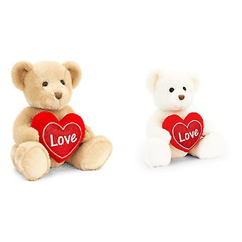 Keel Toys Chester Bear With Heart Plush Toy