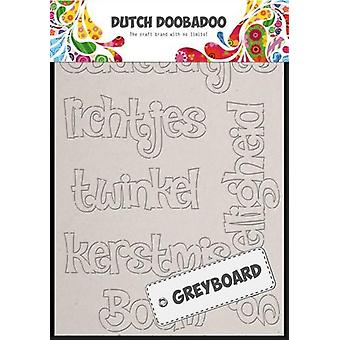 Dutch Doobadoo Dutch Greyboard Art Christmas (NL) A6 492.002.004