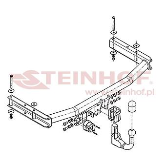 Steinhof Tow Bars And Hitches for A4 2004 to 2008