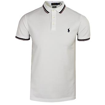 Ralph lauren men's white tipped polo shirt