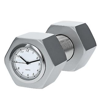 TM Miniature Nut Bolt - Dumbbell Base Metal Novelty Quartz Movement Collectors Clock TM33