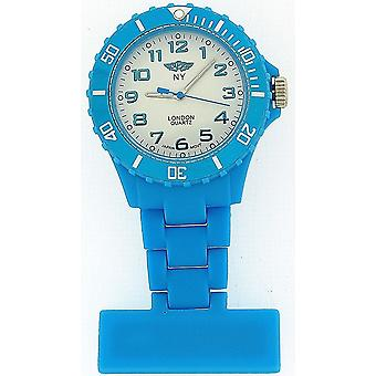 Prince London Rubberised Light Blue Rotating Bezel Unisex Nurses Fob PI-2049