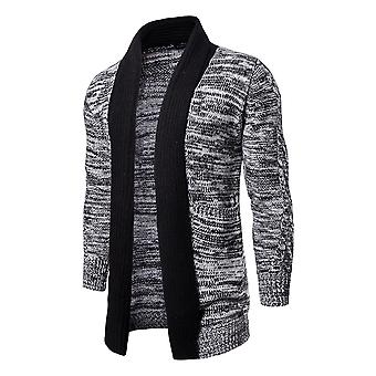 Cardigan Cloudstyle masculine mi Long coton revers col chandail