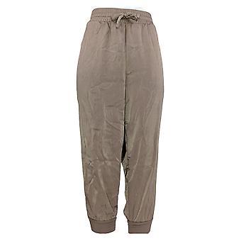 Anybody Women's Petite Pants Satin Jogger Beige A345513