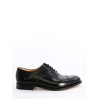 Church's Eeb0279xvf0aab Men's Black Leather Lace-up Shoes