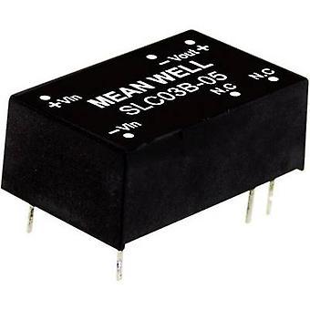 Mean Well SLC03A-15 DC/DC converter (module) 200 mA 3 W Nr. van de uitgangen: 1 x