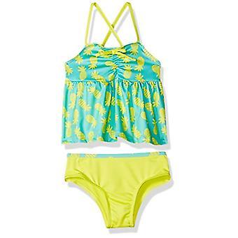 Pink Platinum Toddler Girls' Pinneapple Print Tankini Swimsuit, Yellow, 4T