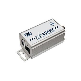 2N 2ワイヤー Ip to Ip poe エクステンダー キット セット 2X アダプターと電源