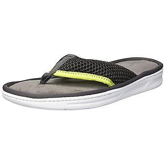 Dearfoams Men's Shoes Mesh Flip Flop Open Toe Slip On Slippers