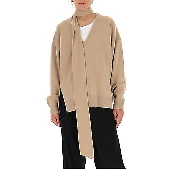 Chloé Chc20amp6950020o Women's Beige Wool Sweater