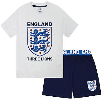 England Three Lions Official Football Gift Boys Short Pyjamas