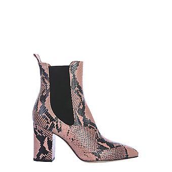Paris Texas Px125xpn01rosanero Women's Pink Leather Enkellaarsjes