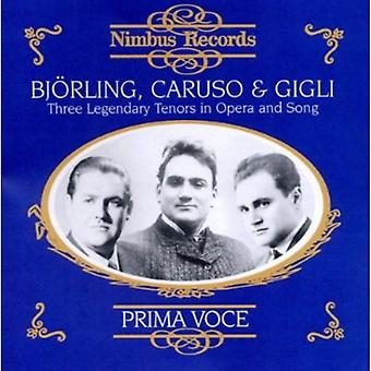 Bjorling/Caruso/Gigli - Bj Rling, Caruso & Gigli: Three Legendary Tenors in Opera and Song [CD] USA import