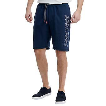 Funky Buddha Men's Jogger Shorts With Logo On Leg