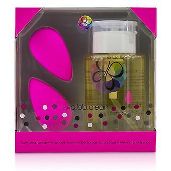 Two bb clean kit (2x beauty blender, 1x liquid blender cleanser 150ml/5oz) original (pink) 211032 3pcs