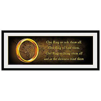 The Lord Of The Rings One Ring 30 x 12 Foto