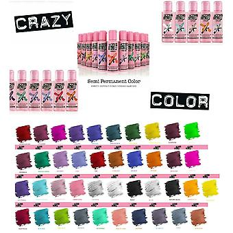 Crazy Color Semi Permanent Hair Dye 100ml - Choisissez parmi 41 nuances