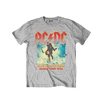 ACDC Kids T Shirt Blow Up Your Video Logo new Official Heather Grey Ages 3-14yrs