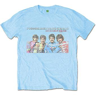 Blue The Beatles Lp Here Now Official Tee T-Shirt Mens Unisex
