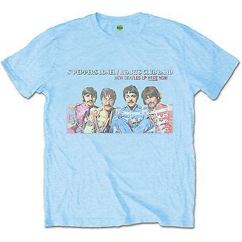 כחול החיפושיות Lp כאן עכשיו רשמי טי חולצת טריקו Mens יוניסקס