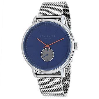 185, Ted Baker Men 's TE15063006 Reloj de plata de cuarzo