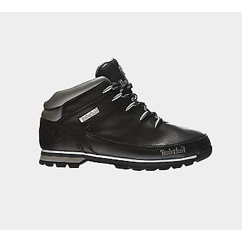 Timberland Euro Sprint Hiker Black Smooth Men'S 6200R Shoes Boots