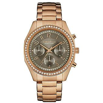 Caravelle Watch 44L195 - Plated Stainless Steel Ladies Quartz Chronograph