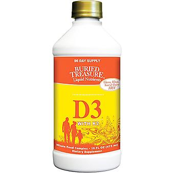 Buried Treasure, Liquid Nutrients, D3 with K2, 16 fl oz (473 ml)