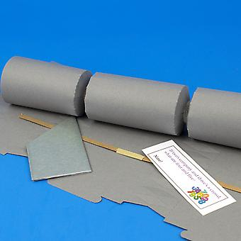Single Grey Make & Fill Your Own DIY ReyClable Christmas Cracker Craft Kit