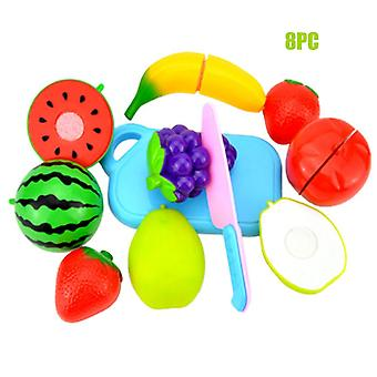Plastic Food Toy Cutting Fruit Vegetable Food Pretend Play Children For Kids