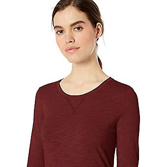 Marca - Ritual Diario Mujeres's Lightweight Lived-In Cotton 3/4-Sleeve T-...