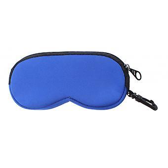 Brillenetui Unisex   16 x 8 cm blau