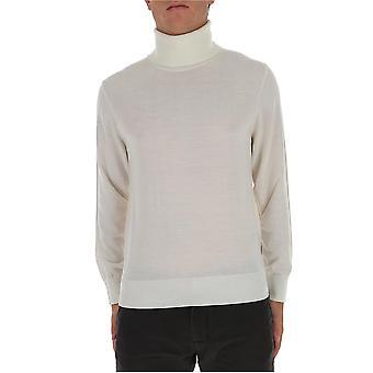 Z Zegna Vvm97zz120n01 Männer's weiße Wolle Pullover