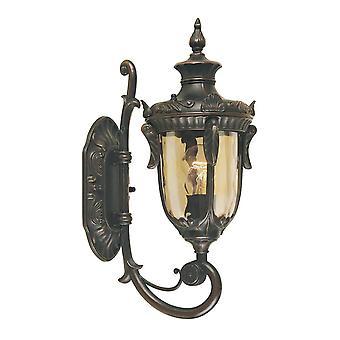 Elstead Philadelphia - 1 Light Outdoor Small Wall Lantern Light Old Bronze IP44, E27