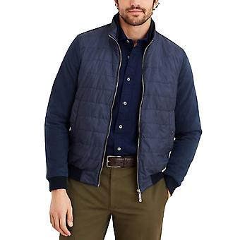 Brooks Brothers Men's Mixed-Media Quilted Bomber Jacket