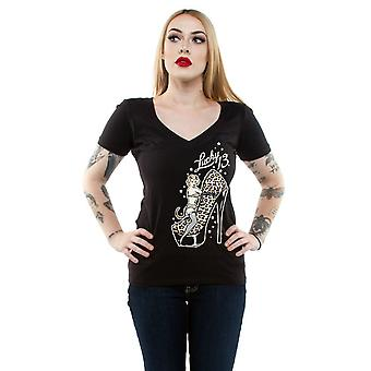 Lucky 13 Women's T-Shirt Cat Heels