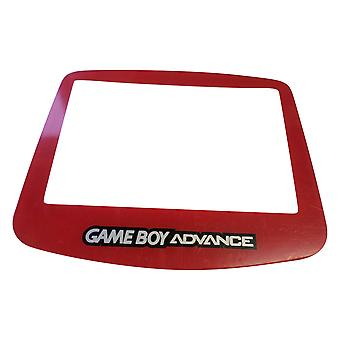 Replacement screen lens for nintendo game boy advance plastic cover - blood red | zedlabz