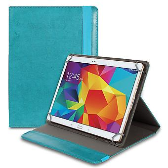 Universal 8 Inch Synthetic Leather Ette Plate TPU Plastic Reading Plate Kickstand Turquoise