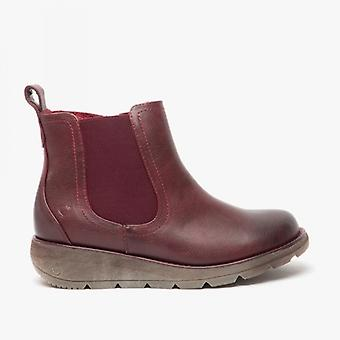 Heavenly Feet Rolo 3 Ladies Ankle Boots Wine