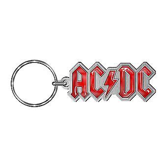 Porte-clés en métal collectable logo AC/DC