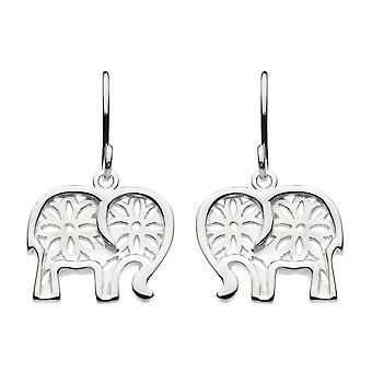 Aretes colgantes de elefante talismán de plata de ley rocío 6500HP024