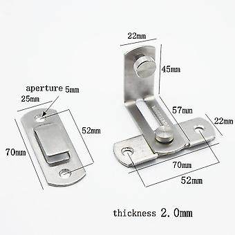 90 Degree Hasp Latches Stainless Steel Sliding Door Chain Locks Security Tools Hardware