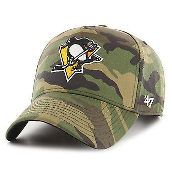 47 Brand Adjustable Cap - GROVE Pittsburgh Penguins wood
