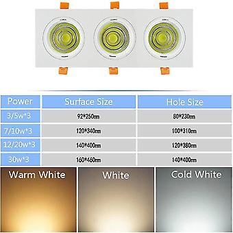 Indoor Embedded Grille Led Cob Bean Gall Light 3/5/7/10/12/20/30w